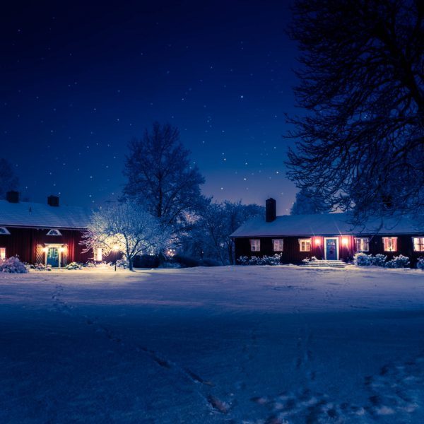Prostgården på vintern